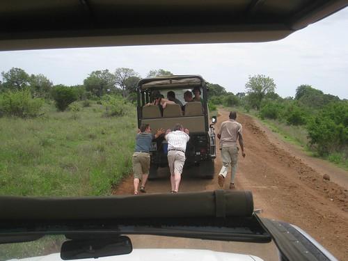 The Livingstone Trails truck needs a push start