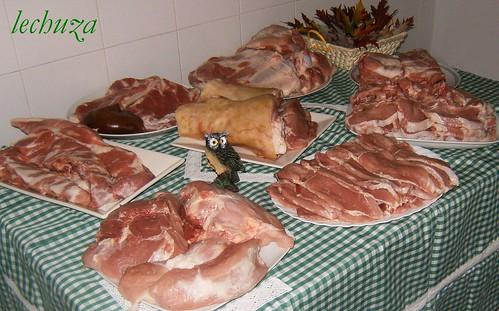 Carne matanza-mesa