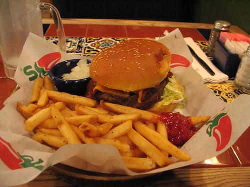Burger at Chilis