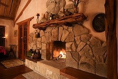 Strawhouse fireplace mantle (Gary Zuker) Tags: house building natural straw cob earthenarchitecture naturalbuilding earthen strawhouse strawclay