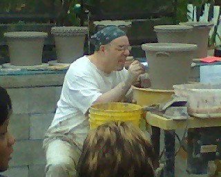 Guy Wolff Pottery Demonstration at City Escape