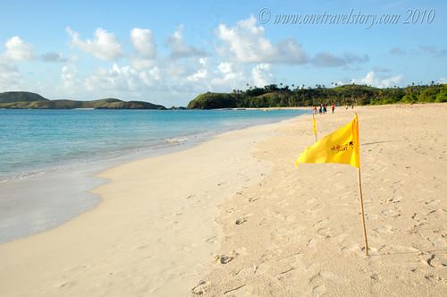 TF banners, Calaguas Island, Camarines Norte