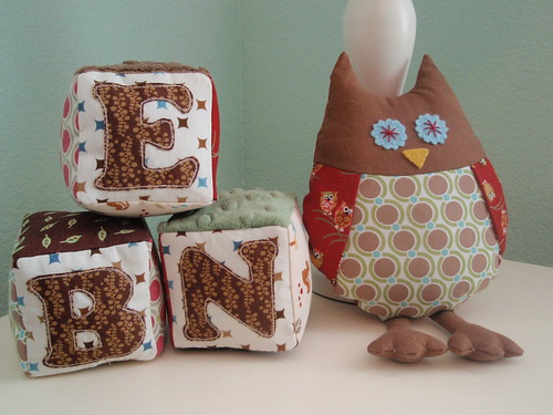 Baby Blocks and Owl Stuffie