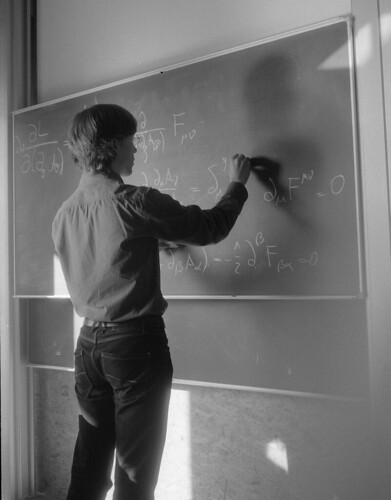 Physics Student at the Blackboard