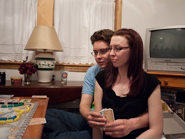 Mike and Katie at Board Game Night