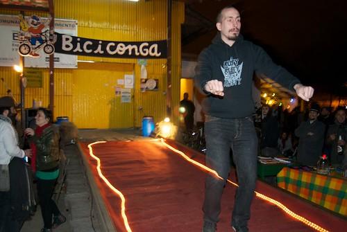 Imaginary bike in the Biciconga
