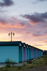 Morning Light (AndWhyNot) Tags: beach sunrise huts southsea 6639