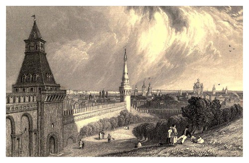017-Moscow desde la explanada del Kremlin-A journey to St. Petersburg and Moscow 1836- Ritchie Leitch