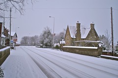 Ince Cemetery Lodge in the snow (lower_incer) Tags: wigan alfredwaterhouse inceinmakerfield grade2listed