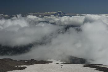 Clouds Below and Mount Adams