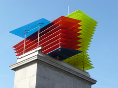 Sculpture, Trafalgar Square, London (Richard and Gill) Tags: sculpture london glass westminster architecture model colours trafalgarsquare bluesky plinth thomasschütte fourthplinth modelforahotel