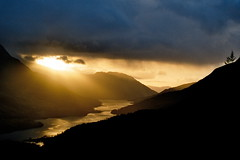 Sunset over Kinlochleven (Another Partial Success) Tags: sunset scotland stunning glencoe loch heavenonearth godscountry kinlochleven unature unaturefav breakthroughthecloud wildcountryside
