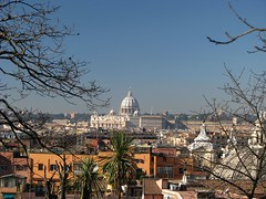 View of the Vatican from the Pincio gardens (winninator) Tags: italy vatican stpeters rome skyline dome
