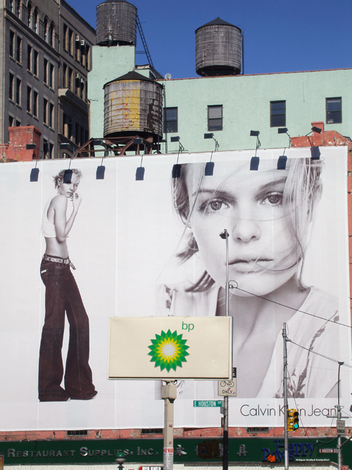 Calvin Klein billboard, Houston Street, Manhattan, NYC