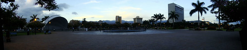 Emancipation Park evening pano