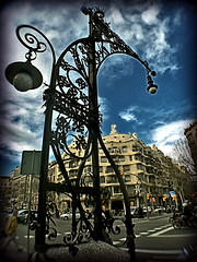La Pedrera. Barcelona.- (ancama_99(toni)) Tags: street leica old city vacation urban espaa house holiday color building art familia architecture buildings geotagged lumix photography photo interestingness interesting spain arquitectura edificios espanha europa europe cityscape photos streetlamps bcn edificio cityscapes modernism photographic catalonia panasonic explore artnouveau gaudi gaud artdeco catalunya 2008 espagne sagrada modernismo barcellona catalua catalan barcelone spagna modernisme pedrera pasoscatalans lapedrera urbanas 1000views urbanscapes catalogne belleepoque 5000views 50faves 50favs 35faves fz7 dmcfz7 25faves aplusphoto holidaysvacanzeurlaub interesantsimo eyeofthephotographer lexample saariysqualitypictures