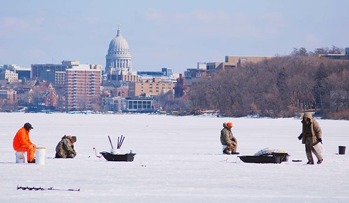 More Stable Platform for Ice Fishing on Other Side of Isthmus