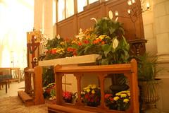 Maundy Thursday (85) (Chris Gent) Tags: flowers orlando cross cathedral florida altar anglican episcopal lent holyweek maundythursday holygarden thecathedralchurchofstluke