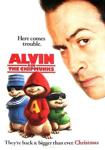 Alvin An The Chipmunks - movie poster (2007, starring Jason Lee)