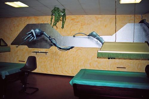 Indoor Auftragsarbeit für eine Oldschool Spielhalle