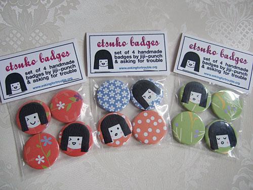 Etsuko badges