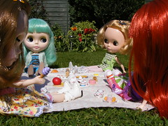 Audreys Awfully Big Adventure Part II (shortstuff411) Tags: garden doll picnic petal blythe mm takara ep enchanted pp pdae ashlette modmolly