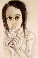 anorexic (Rachel Hardwick (rachelhardwick.4ormat.com)) Tags: girl ed eating tape hate anorexia disorder measure measuring selfesteem