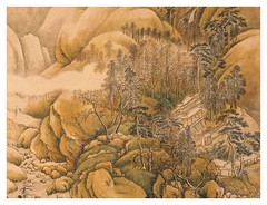 Nieve rios y montañas-detalle-Wang Shih Min-Dinastia Ch'ing (1644-1911)-tamaño 133X60 cms
