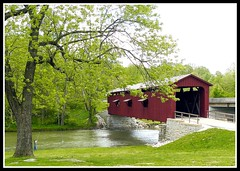 Covered Bridge (Doberdad) Tags: bridge red river fishing coveredbridge cataractfalls southcentralindiana photofaceoffwinner pfogold beginnerdigitalphotographychallengewinner