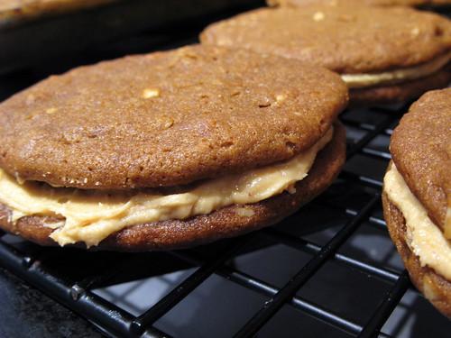 Chewy Peanut Butter Sandwich Cookies