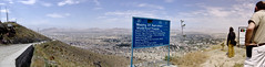 Looking north from TV hill in Kabul, Afghanistan