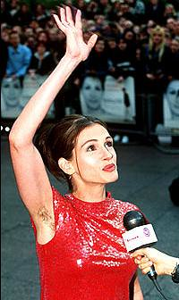 Julia Roberts and her armpit hair.