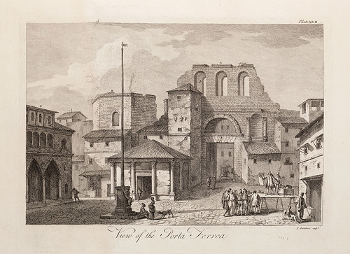 05-Placa XVII. Vista de la Porta Ferrea