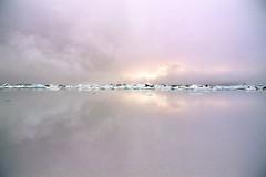 Jokulsarlon - Iceland (tigrić) Tags: autumn winter sky lake reflection ice nature landscape mirror iceland melting lakes september glacier iceberg route1 jokulsarlon globalwarming glacierlagoon breiðamerkurjökull
