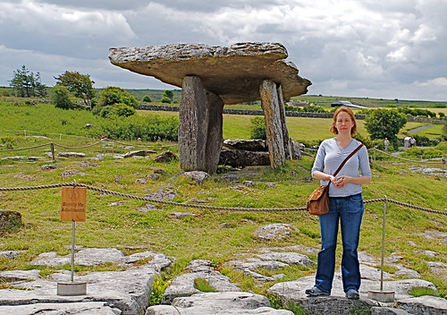 Stacy Beside Portal Dolmen