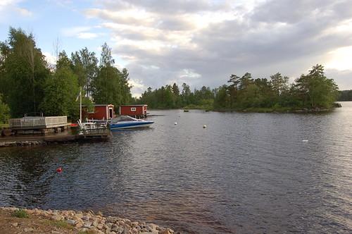 たどり着いた湖岸