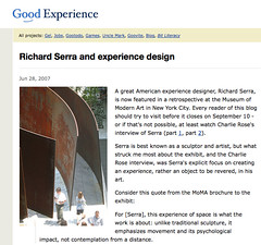 Richard Serra and experience design_1214525242418