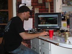Nat at the computer