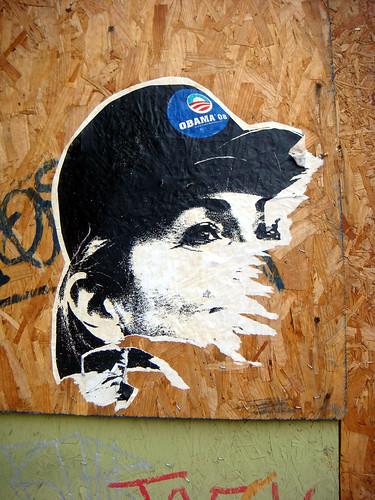 hillary obama streetart