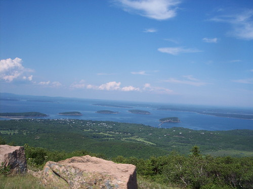 A view familiar to many of you: The islands of Frenchman Bay from atop Cadillac Mountain