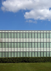 arne jacobsen, rdovre town hall, 1952-1956 (seier+seier) Tags: park city house building glass arquitetura wall architecture modern facade copenhagen denmark town hall c