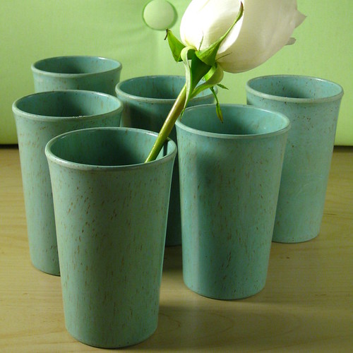Blue Melamine Cups