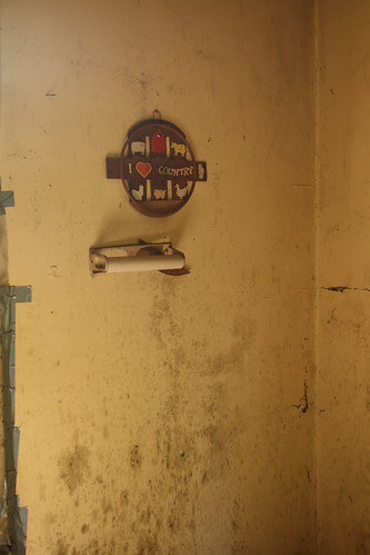 'I Love Country' Sign in Abandoned Apartment Building - IMG_4324