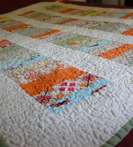 Gender Neutral Baby Quilt Close Up