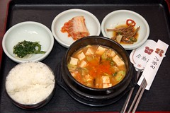korean in china (Ian Riley [on the right side of the fence]) Tags: china food soup restaurant airport rice capital tofu beijing international korean seafood doufu
