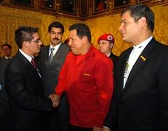 Visita de Hugo Chávez al Ecuador