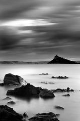 The Mount, Penzance. - Just purchased B+W 10 stop filter, its apparently for commercial use for photographs of furnaces and the sun, but now I can take long exposure photos in bright daylight! The filter is so black you have to focus first, lock the settings, screw on the filter and using bulb, time your exposures with a stop watch. I took one photo with an exposure of 4 mins! I'm going to have fun with this!