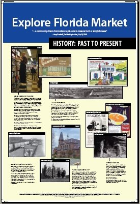 Explore Florida Market directory and history signage, side 2