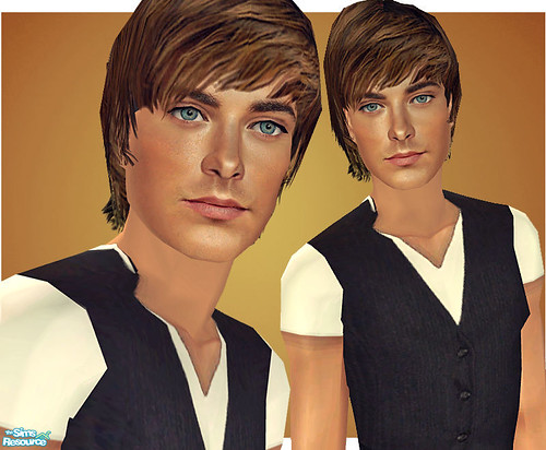 Zac Efron As A Sim! by Amy Loves Nick :D.