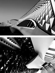 (Manu Arj) Tags: bw espaa blancoynegro architecture blackwhite spain arquitectura expo zaragoza aragon ebro 2008 espagne 08 saragossa zahahadid exposicin ebre espanya 5photosaday    pabellonpuente bridgepavilion